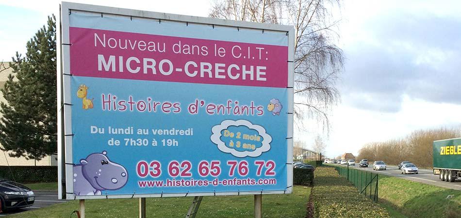Bâches PVC et toiles publicitaires à Lille