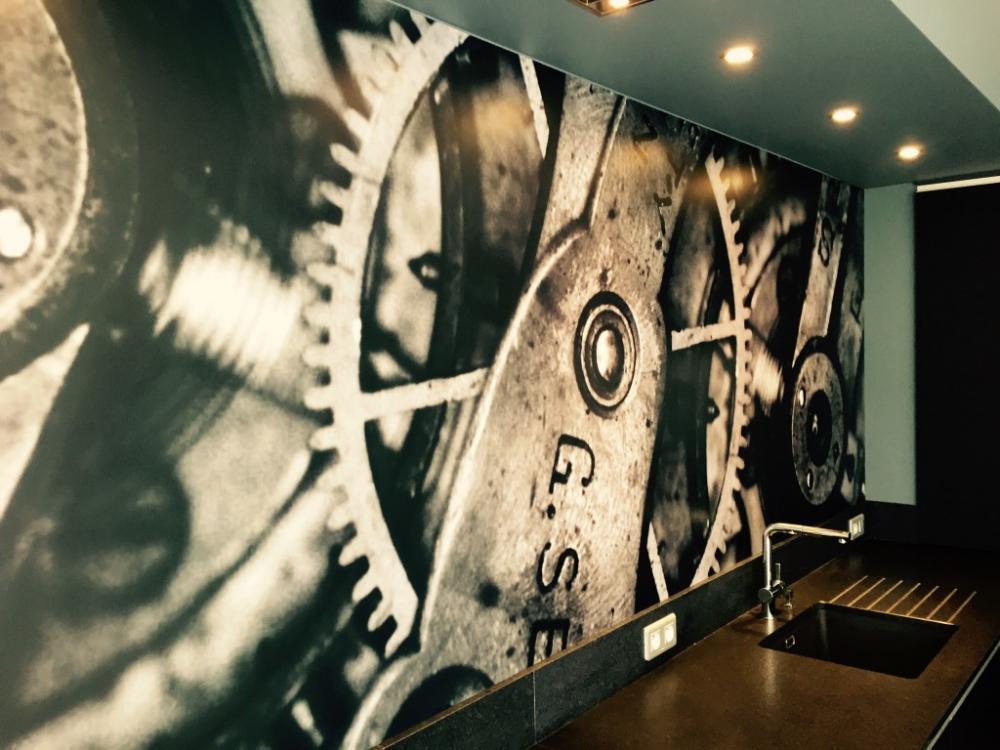 Décoration, murale, adhésif